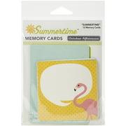 Summertime Cardstock Memory Cards 12/Pkg-