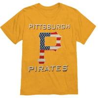 Pittsburgh Pirates Majestic Threads Stars & Stripes Tri-Blend T-Shirt - Yellow