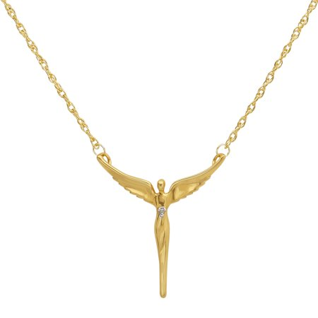 Dogeared Angel Necklace - 18kt Yellow Gold over Sterling Silver Angel of Reconciliation Necklace, 18 Necklace