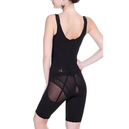 SLIMBELLE Womens Full Body Shaper Waist Cincher Seamless Smooth Bodysuit Shapewear Open Bust Thin - Leg One Piece Bodysuit