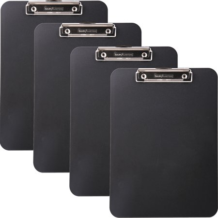 (4 Pack) Mobile OPS Unbreakable Recycled Clipboard, 1/2