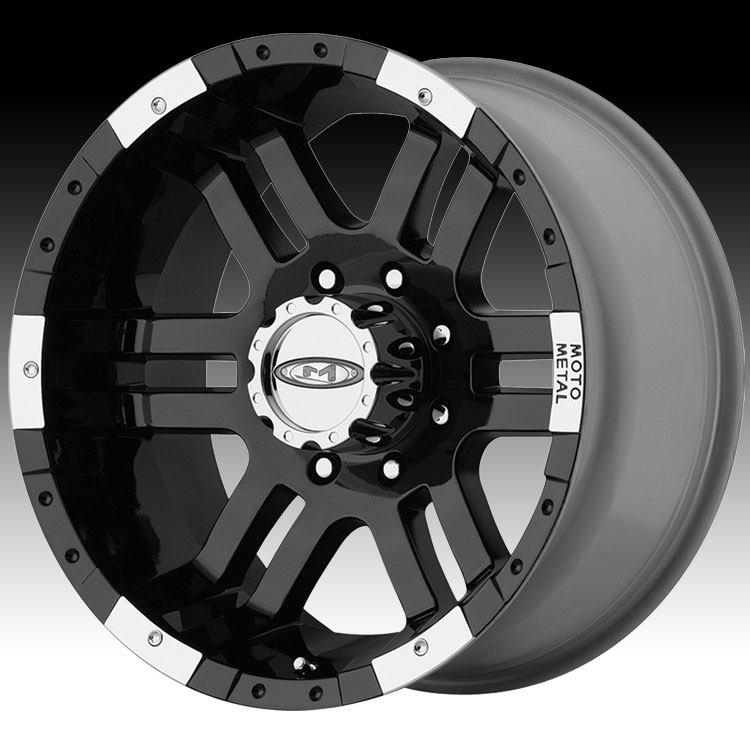 Moto Metal MO951 Black Machined 17x9 5x4.5 -12mm (MO95179...