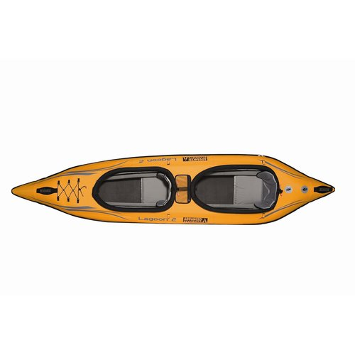 Advanced Elements Lagoon2 Two Seat Kayak in Orange and Gray