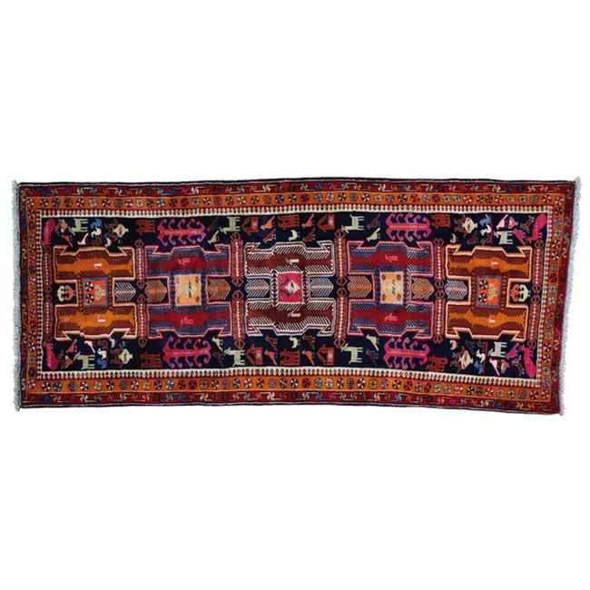 Rugs sh28218 4 ft.  6 inch x 10 ft.  9 inch Persian Afshar Wide Runner Pure Wool Handmade Oriental Rug