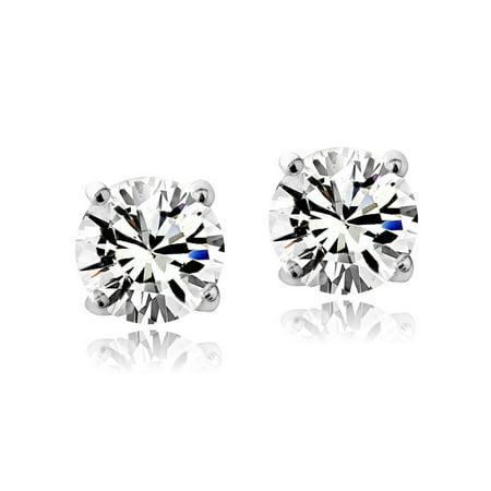Swarovski Elements April Birthstone Stud Earrings