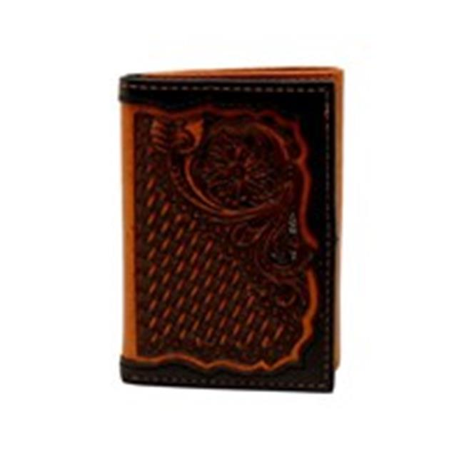 Ariat A3528767 Floral Basket Tool Tri-Fold Wallet, Black & Tan - One Size - image 1 of 1