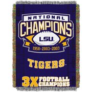 "NCAA 48"" x 60"" Commemorative Series Tapestry Throw, LSU"