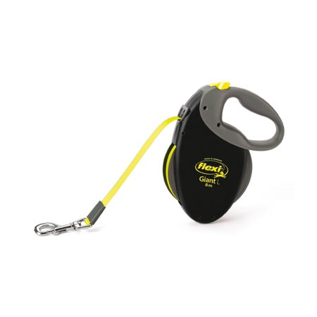 Flexi North America Llc-Giant Large Tape Retractable Leash- Neon Yellow Large/26 -