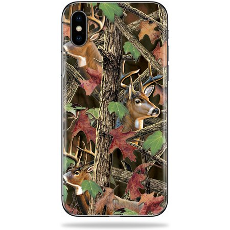 Skin for Apple iPhone X - Buck Camo| MightySkins Protective, Durable, and Unique Vinyl Decal wrap cover | Easy To Apply, Remove, and Change Styles | Made in the USA