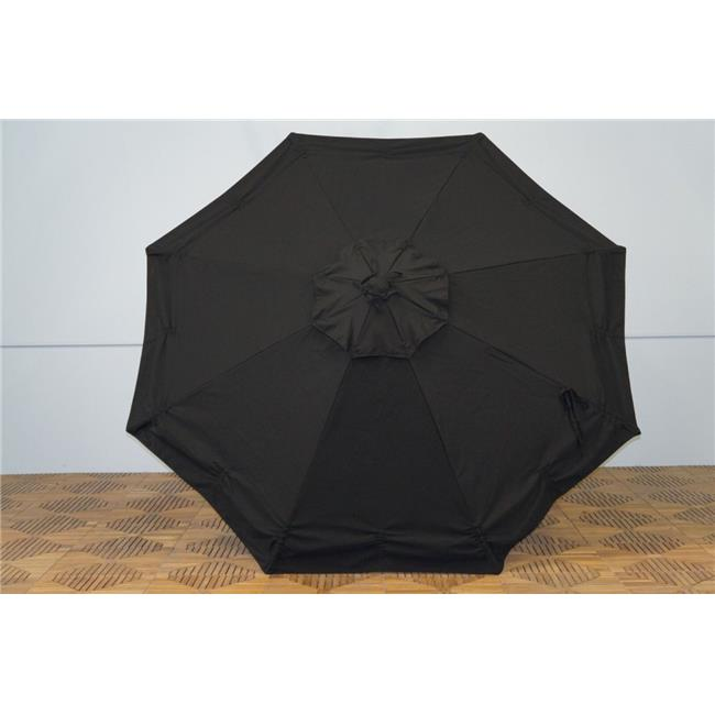 Shade Trends URC-98-Blk Universal Replacment Umbrella Canopy - Black