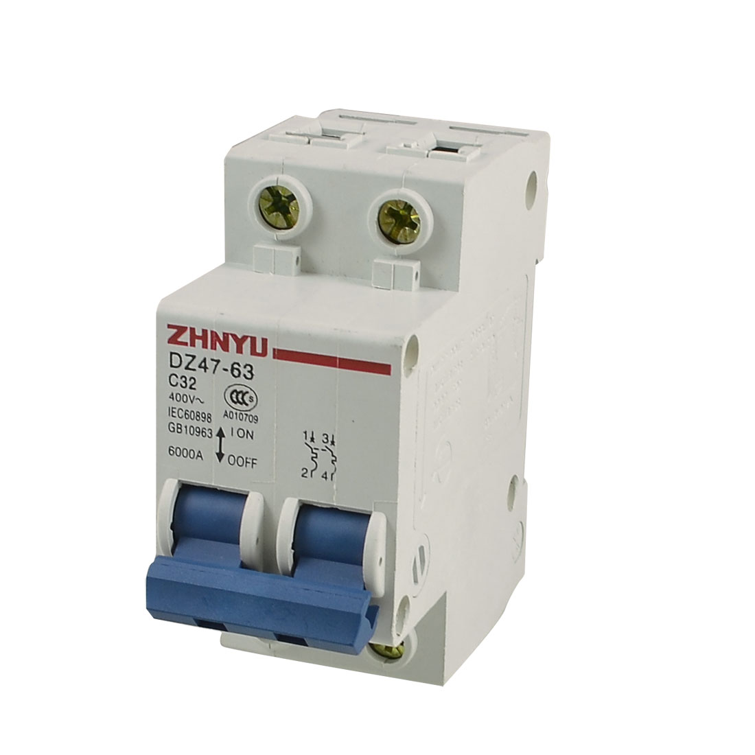 Unique Bargains 6000a Breaking Capacity 2p Mini Circuit Breaker Ac Why My Trips The When I Switch It On Sunrise 400v Dz47 63 C32