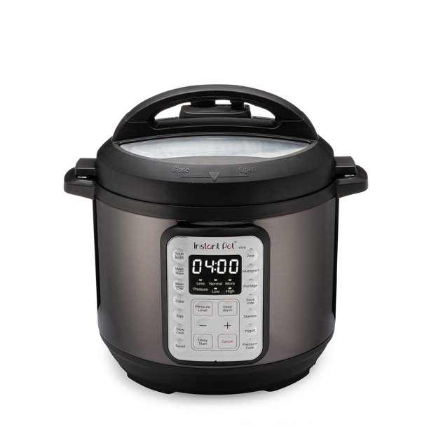 Instant Pot VIVA Black Stainless 6-Quart 9-in-1 Multi-Use Programmable Pressure Cooker, Slow Cooker, Rice Cooker, Yogurt Maker, Cake Maker, Egg Cooker, Sauté, with Sous Vide and Sterilizer