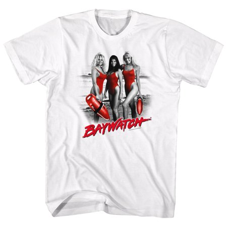 Baywatch Men's  Red Red Red T-shirt White