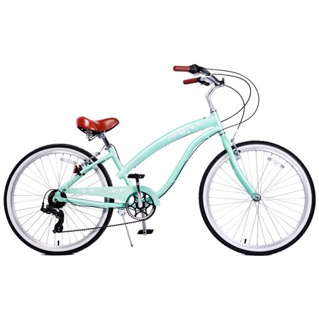 Fito Modena II Aluminum Alloy 7-speed beach cruiser bike for women (Mint Green)