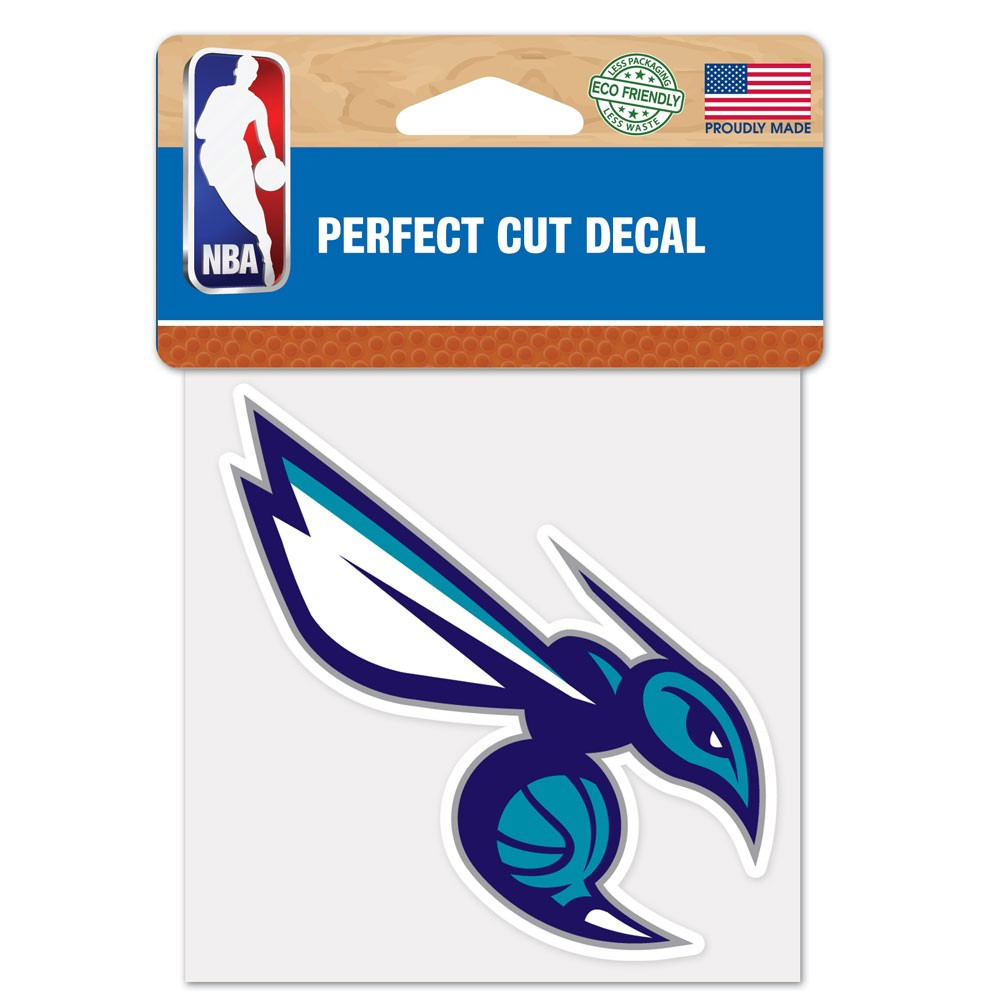 Charlotte Hornets 4x4 Perfect-Cut Car Auto Decal Sticker