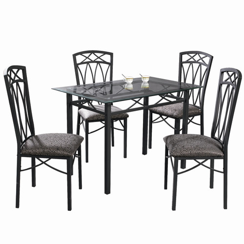 Home Source Pinnacle Pierre Dinette Table and 4 Chairs