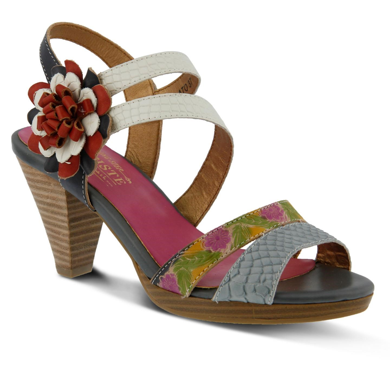 L'Artiste Plato By Spring Step Grey Leather Sandal 42 EU   11 US Women by Spring Step
