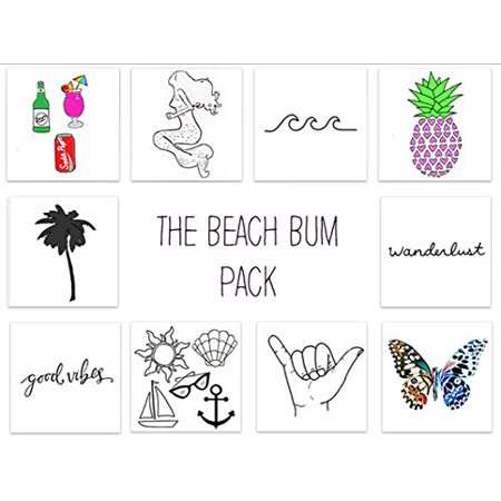 INKED by dani Temporary Tattoos (THE BEACH BUM PACK)