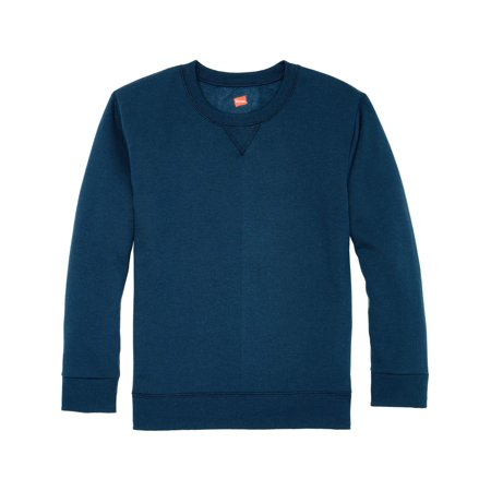 Solid Fleece V-notch Crew Neck Sweatshirt (Big Boy & Little Boy)