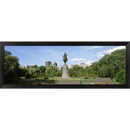- Metaverse ' Boston Public Gardens, Boston, Massachusetts' Framed Panoramic Photo