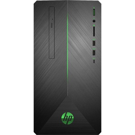 HP - Pavilion Gaming Desktop - AMD Ryzen 5-Series - 8GB Memory - AMD Radeon RX 580 - 1TB Hard Drive + 128GB Solid State Drive - Shadow Black With A Brushed Hairline Pattern 690-0024 Computer