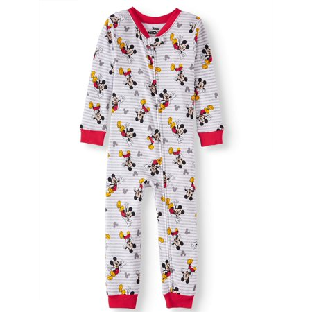 Cotton Sleeper Pajamas - Mickey Mouse Toddler boys' mickey mouse cotton footless pajama sleeper