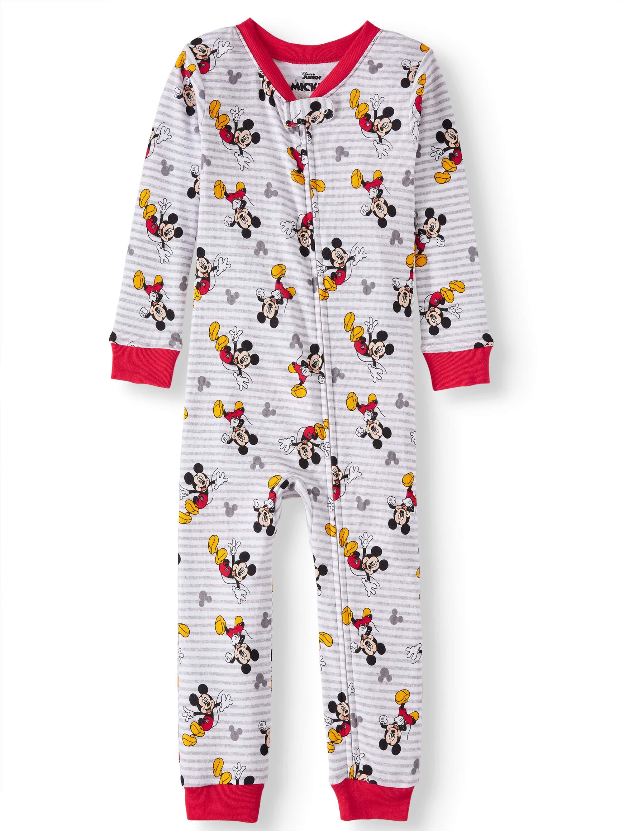 Toddler Boys' Mickey Mouse Cotton Footless Pajama Sleeper