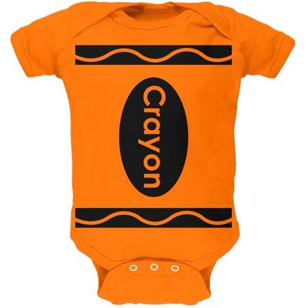 Orange Crayon Costume Orange Soft Baby One Piece