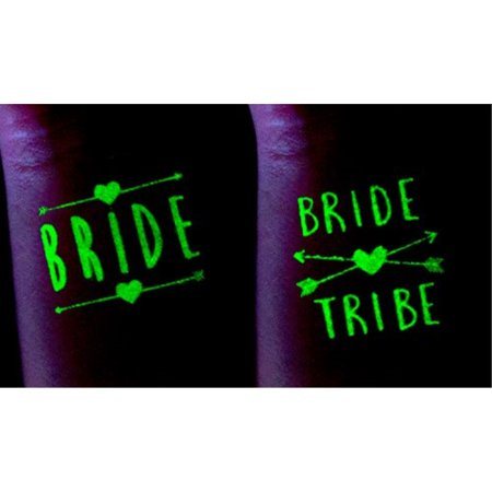 ASUSA Bachelorette Party Tattoos – 16 Glow in The Dark Tattoos â ...