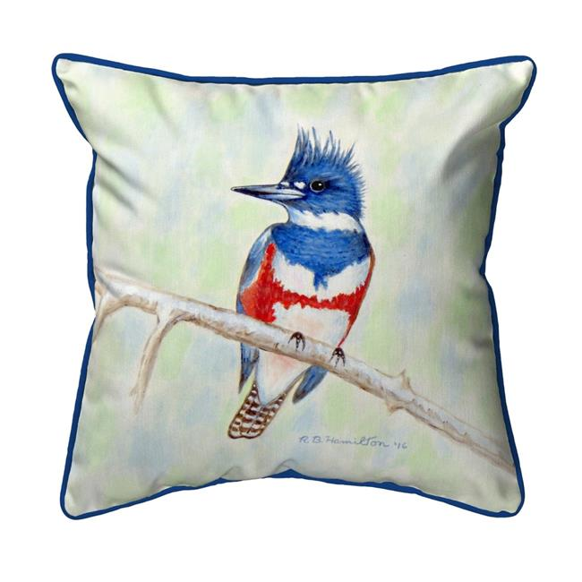 Betsy Drake Sn363 12 X 12 In Kingfisher Small Indoor Outdoor Pillow Walmart Canada