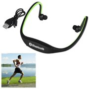 Insten Green Wireless Bluetooth 3.0 Sport Ear-Clip Headset Headphone with Microphone Handsfree for Running Gym Sports Exercise (Compatible with Android Smarphone iPhone 7 6 6s Plus SE 5s 5c Universal)
