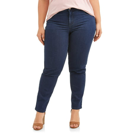 Just My Size Women's Plus Size 5 Pocket Stretch Jean, Also in Petite Comfort Stretch 5 Pocket Jeans
