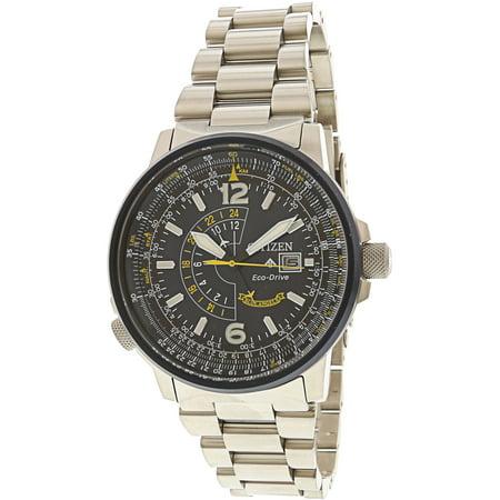 Citizen Men's Promaster Nighthawk BJ7006-56L Silver Stainless-Steel Japanese Quartz Dress Watch