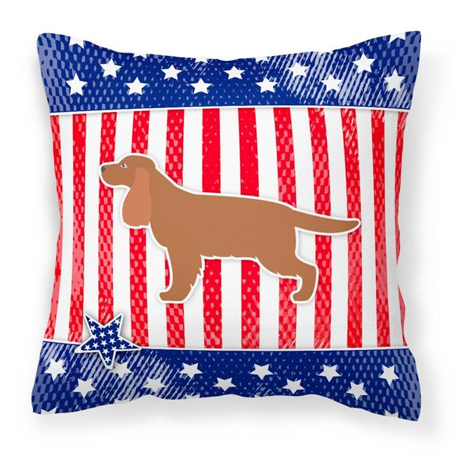 Carolines Treasures BB3312PW1818 USA Patriotic English Cocker Spaniel Fabric Decorative Pillow - image 1 de 1