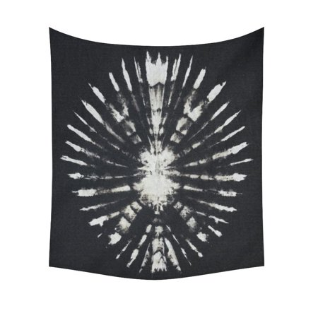 GCKG Black and White Round Tie Dye Tapestry Wall Hanging Trippy Abstract Psychedelic Wall Decor Art for Living Room Bedroom Dorm Cotton Linen Decoration 51 x 60 Inches