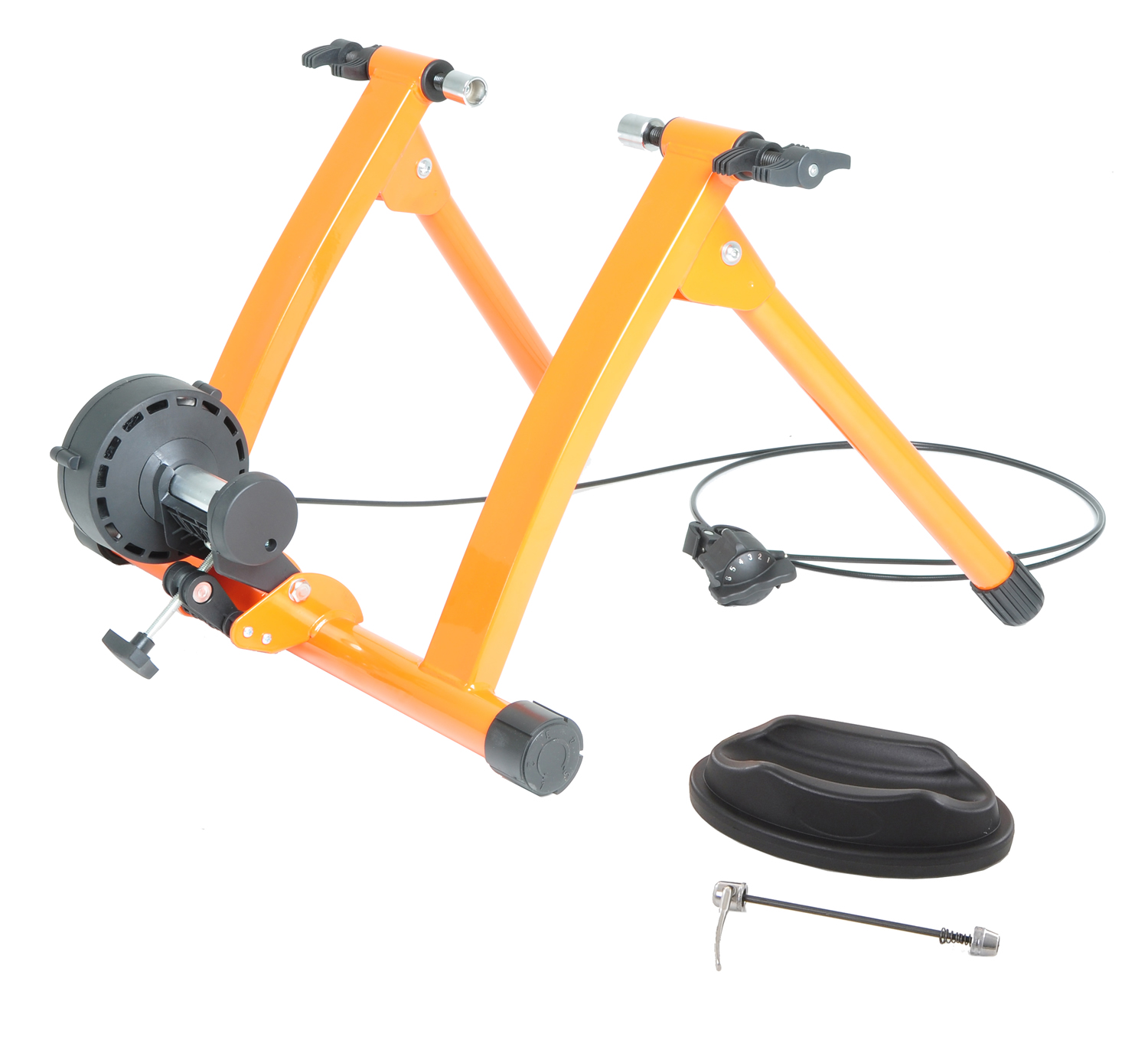 Conquer Pro Indoor Bike Trainer Exercise Machine 5 Speed Variable Magnetic Resistance by Vilano