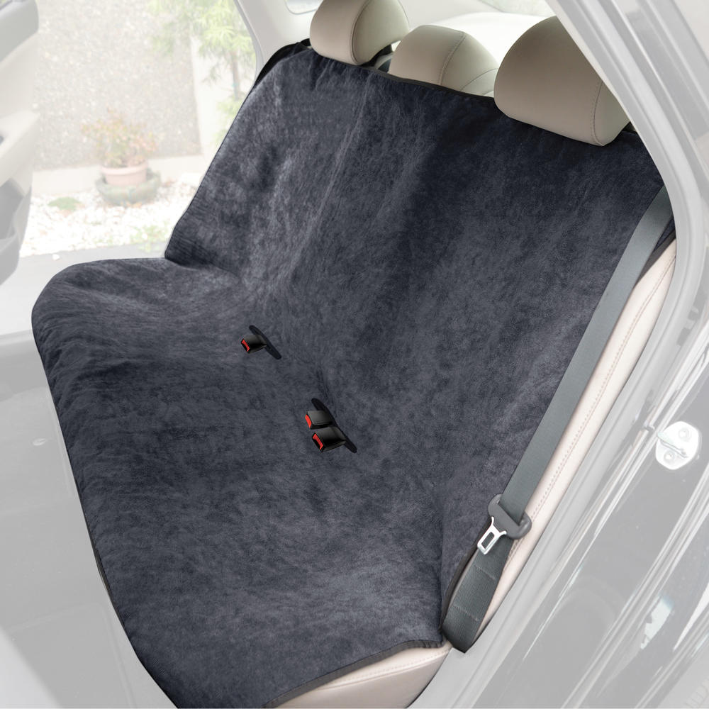 Waterproof Machine-Washable Sweat Protector Ideal for Gym Swimming Surfing Running Crossfit BDK UltraFit Car Seat Towel Cover Rear Bench with Mint Trim Universal Fit for Auto Truck Van and SUV