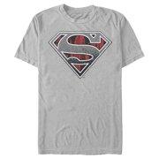 Superman Men's Logo Grunge T-Shirt