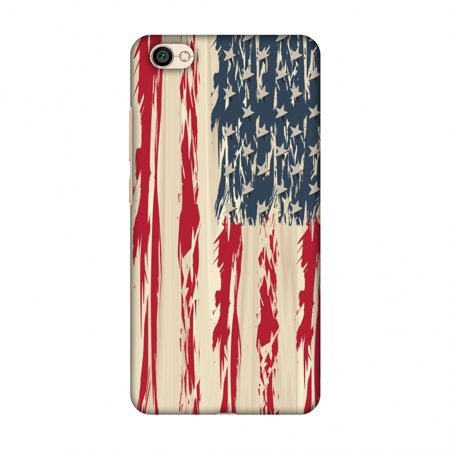 Splash Shield Lite Disposable - Xiaomi Redmi Y1 Lite Case - USA flag- Paint splashes, Hard Plastic Back Cover, Slim Profile Cute Printed Designer Snap on Case with Screen Cleaning Kit
