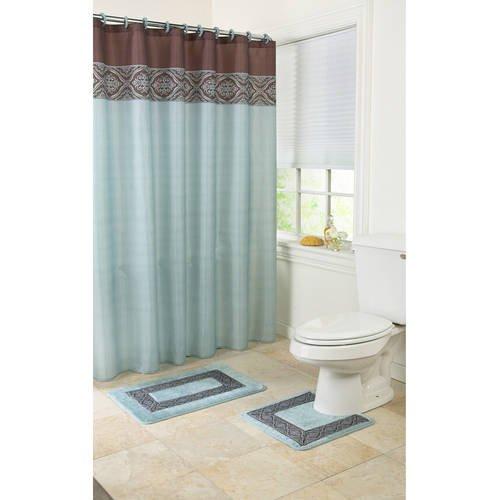 Bathroom Set In A Bag: Mainstays Blue Ashville 15-Piece Bath In A Bag Set, Shower