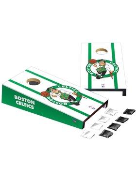Boston Celtics Stripe Design Desktop Cornhole Game Set
