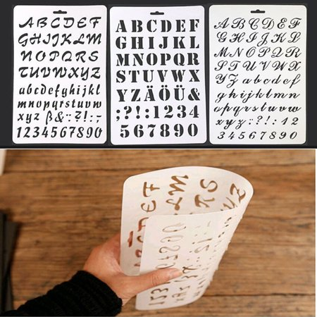 Girl12Queen Letter Alphabet Number Hollow Stencils Painting Scrapbooking Paper Cards Craft - Michaels Stencils