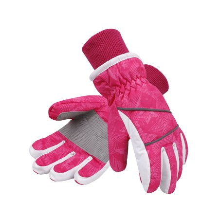 Lullaby Kids Ski Gloves Kids Windproof Waterproof Snowboard Snow Gloves S
