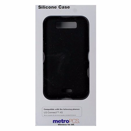Metropcs Soft Silicone Case For Lg Connect 4G   Black