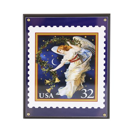Postal Stamps - Night Sky Angel Postal Stamp Plaque 8 x 10 Perfect Size with Vibrant Colors