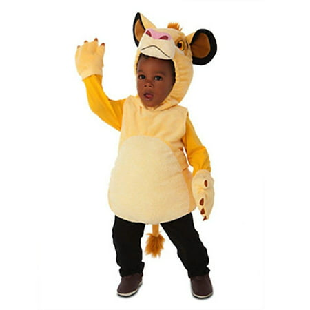 disney store simba the lion king plush halloween costume for boys: toddler size 2t for $<!---->