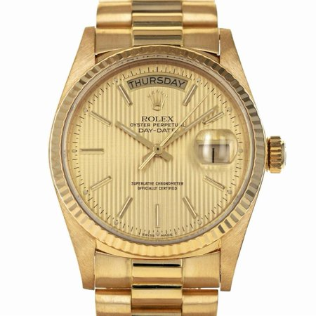 Pre-Owned Rolex Day-date 18038 Gold Watch (Certified Authentic & Warranty)