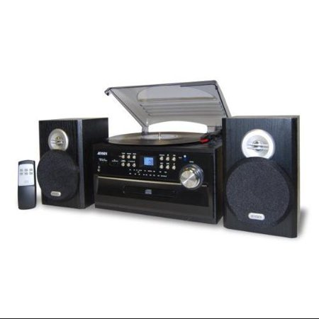Jensen 3-speed Stereo Turntable Music System With Cd/cassett