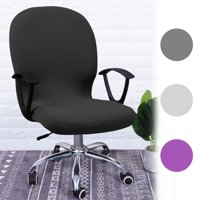 Stretch Office Computer Chair Seat Covers, Removable Washable Anti-dust Desk Chair Seat Cushion Protectors for Computer Chair /Desk Chair/Boss Chair /Rotating Chair / Executive Chair