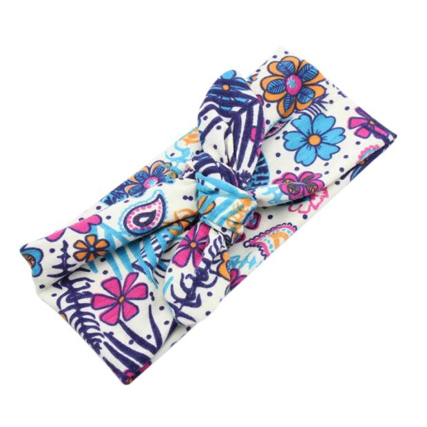 Outtop Baby Unisex Print Knot Cross Headband Baby Hair Accessories